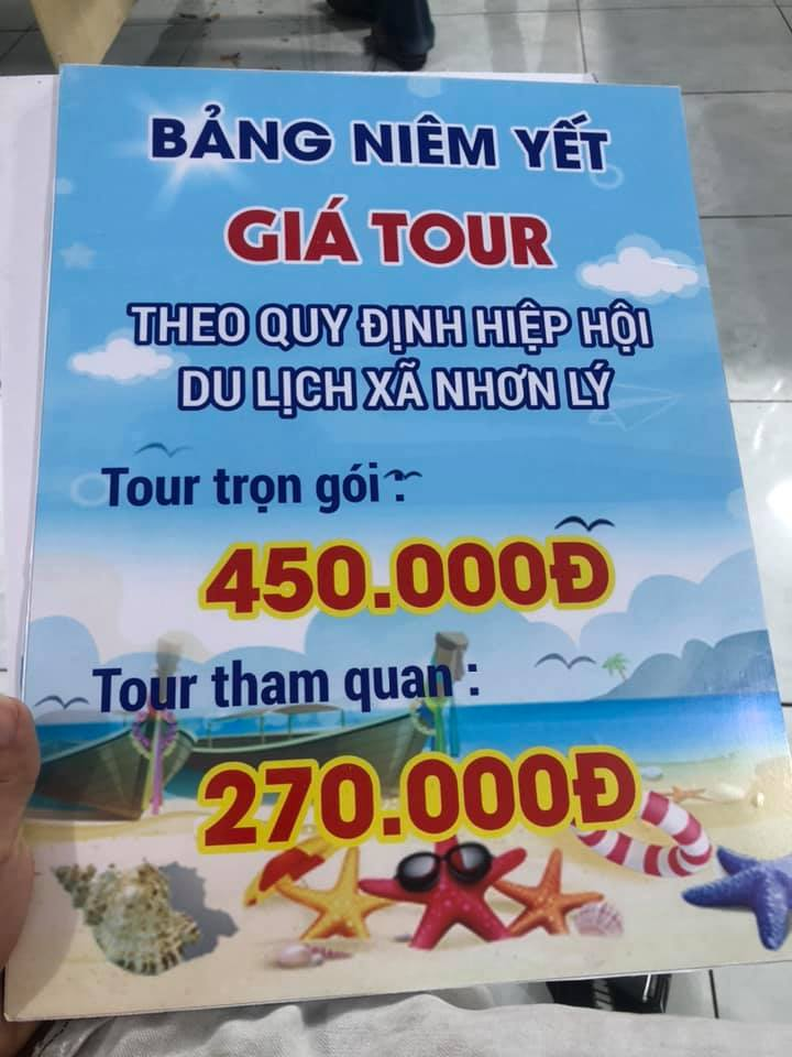bảng giá tour kỳ co đón tại Nhơn Lý